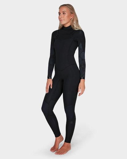 1 LADIES SYNERGY 302 CHEST ZIP FULL SUIT Black 6783818 Billabong
