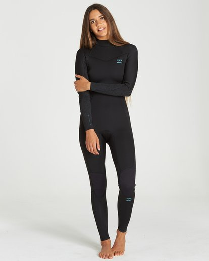 0 302 Furnace Synergy Back Zip Gbs Full Suit Black 6791810 Billabong