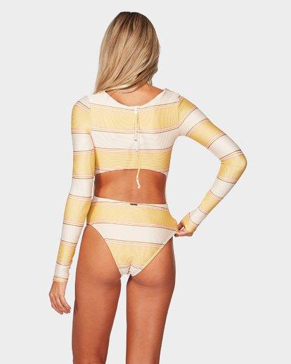 3 Tanlines Stripe Bodysuit Beige 6792007 Billabong