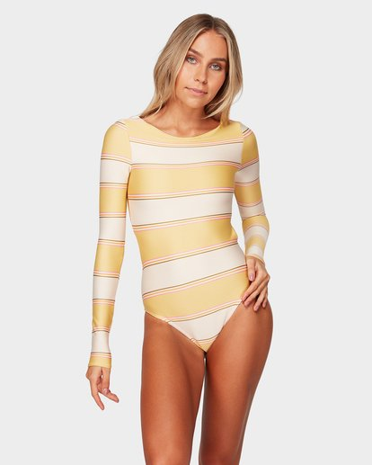 1 Tanlines Stripe Bodysuit Beige 6792007 Billabong