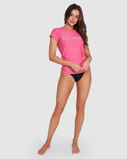 4 So Fine Short Slv Rashguard Pink 6792025X Billabong