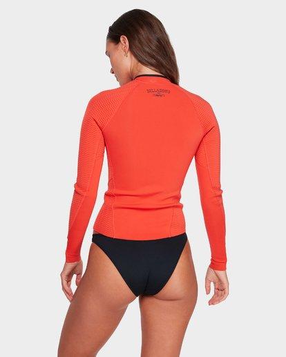 3 Peeky Jacket - 1Mm Long Sleeve Orange 6792120 Billabong