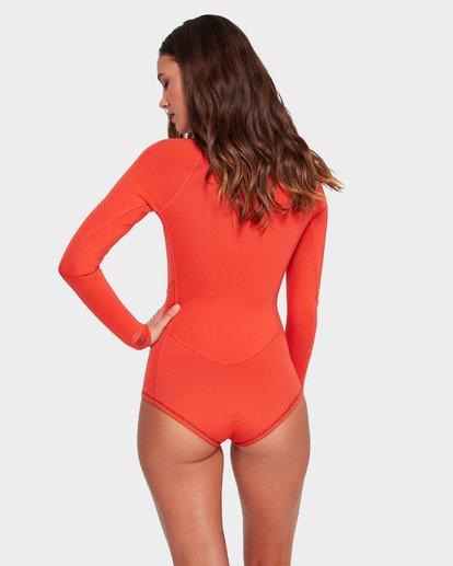 2 Salty Dayz 2Mm Long Sleeve Spring Orange 6792500 Billabong