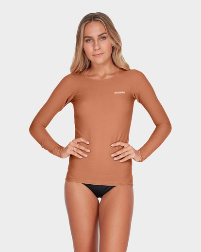 0 TANLINES LONG SLEEVE RASH VEST Brown 6795002 Billabong