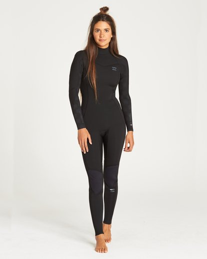 0 Furnace Synergy 302 Back Zip Full Suit Black 6795810 Billabong