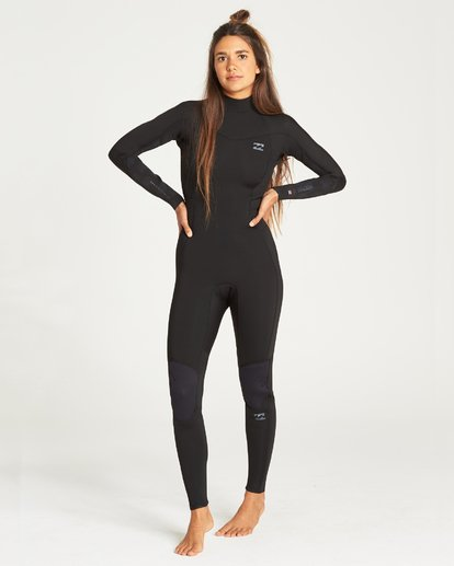 1 Furnace Synergy 302 Back Zip Full Suit Black 6795810 Billabong