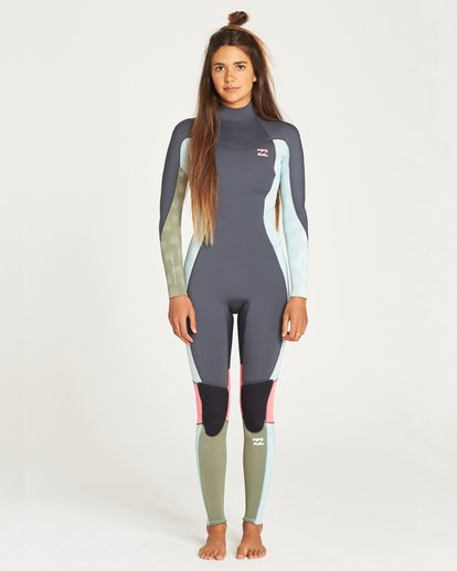 0 FURNACE SYNERGY 302 BACK ZIP FULL SUIT Blue 6795810 Billabong