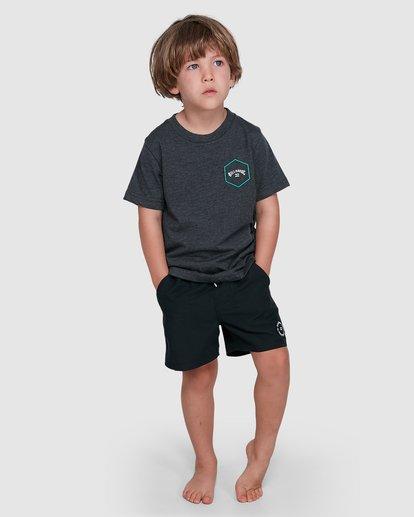 7 Groms Access Short Sleeve Tee Black 7503027 Billabong