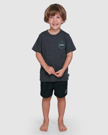 0 Groms Access Short Sleeve Tee Black 7503027 Billabong