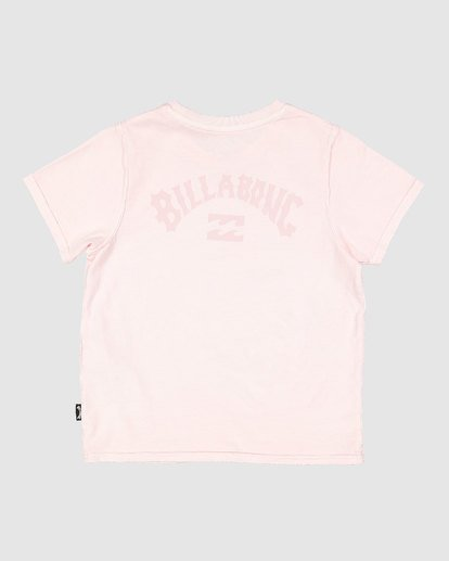 4 Groms Arch Overdye Short Sleeve Tee Pink 7503029 Billabong