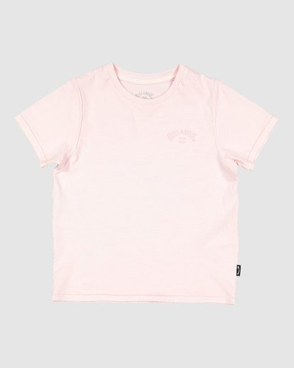 3 Groms Arch Overdye Short Sleeve Tee Pink 7503029 Billabong