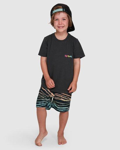 6 Groms Mondo Short Sleeve Tee Black 7503031 Billabong