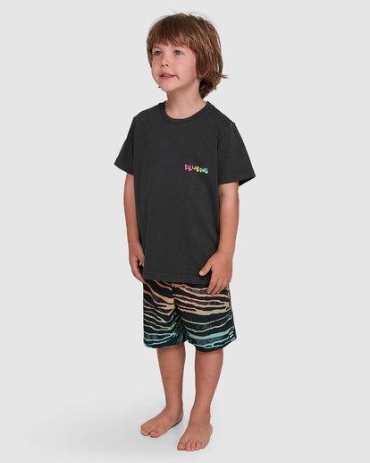 1 Groms Mondo Short Sleeve Tee Black 7503031 Billabong