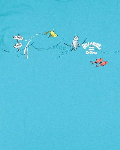 2 Dr. Seuss Kids One Fish Two Fish Tee Blue 7503080 Billabong