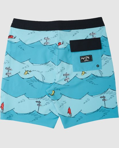 1 Dr. Seuss Kids One Fish Two Fish Boardshorts Blue 7503482 Billabong