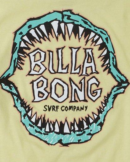 6 Groms Jaws Long Sleeve Yellow 7503710 Billabong