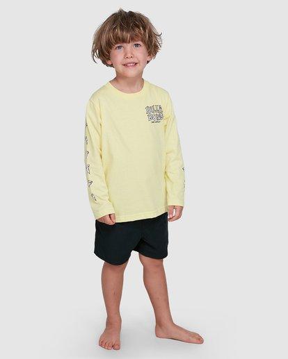 7 Groms Jaws Long Sleeve Yellow 7503710 Billabong