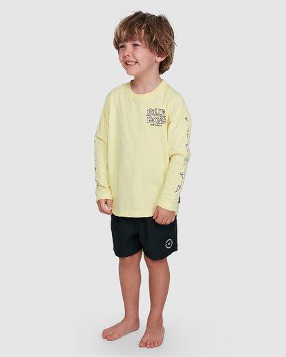 1 Groms Jaws Long Sleeve Yellow 7503710 Billabong