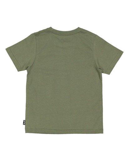 4 Boys 0-7 Smitdog Short Sleeve Tee Green 7504032 Billabong