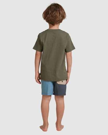 2 Boys 0-7 Smitdog Short Sleeve Tee Green 7504032 Billabong