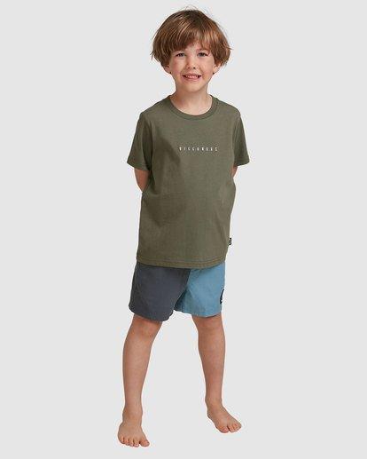 0 Boys 0-7 Smitdog Short Sleeve Tee Green 7504032 Billabong