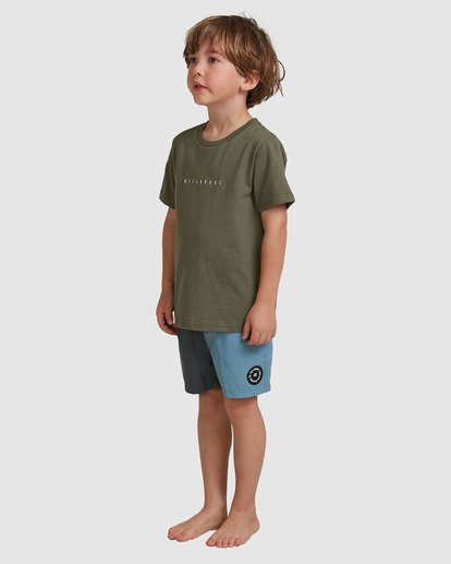 1 Boys 0-7 Smitdog Short Sleeve Tee Green 7504032 Billabong