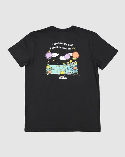 1 Dr. Seuss Speak For The Trees Short Sleeve Tee Black 7508001 Billabong