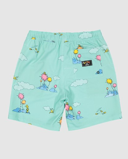1 Dr. Seuss Lorax Sundays Layback Boardshorts Green 7508401 Billabong