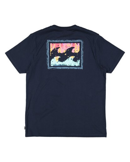 4 Boys 0-7 Crayon Wave Tee Blue 7513001 Billabong