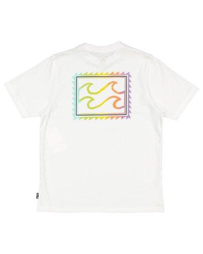4 Boys 0-7 Crayon Wave Tee White 7513001 Billabong