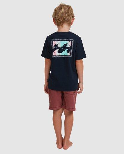 2 Boys 0-7 Crayon Wave Tee Blue 7513001 Billabong