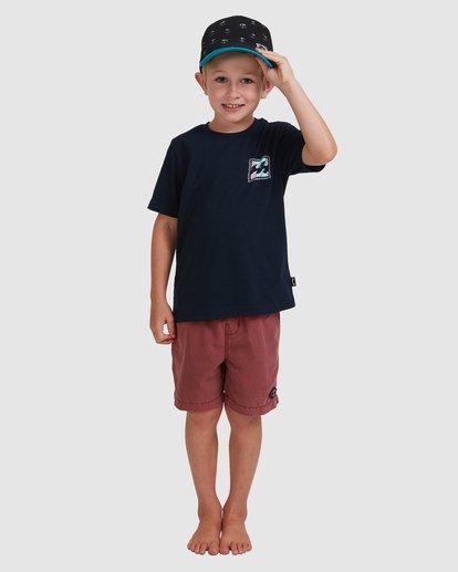 0 Boys 0-7 Crayon Wave Tee Blue 7513001 Billabong