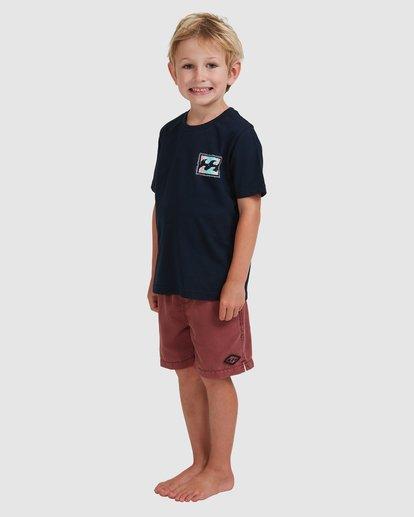 1 Boys 0-7 Crayon Wave Tee Blue 7513001 Billabong