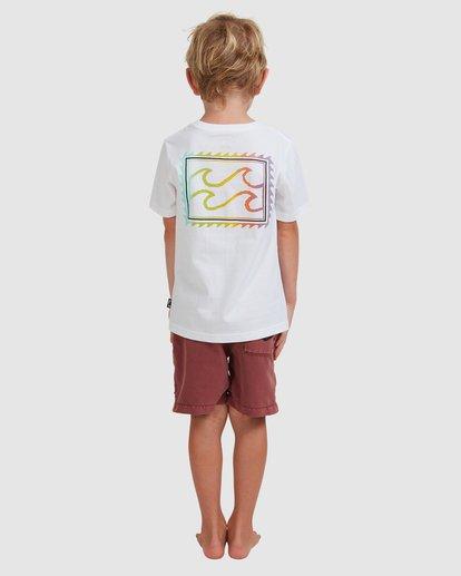2 Boys 0-7 Crayon Wave Tee White 7513001 Billabong