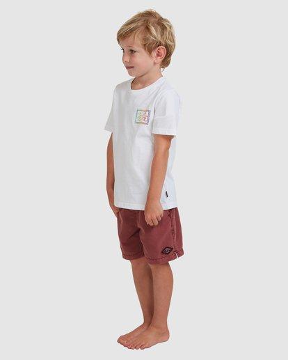 1 Boys 0-7 Crayon Wave Tee White 7513001 Billabong