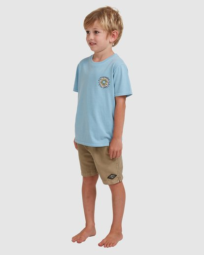1 Boys 0-7 Sons Of Fun Tee Blue 7513004 Billabong