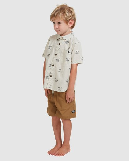 1 Boys' (2-7) Sundays Mini Short Sleeve Shirt Beige 7513210 Billabong