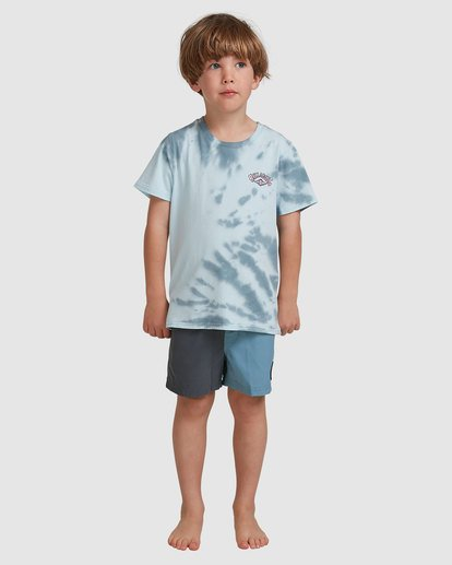 0 Groms Gang Of Gangs Short Sleeve Tee Blue 7517002 Billabong