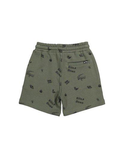 4 Groms Printed Fleece Shorts Green 7517700 Billabong