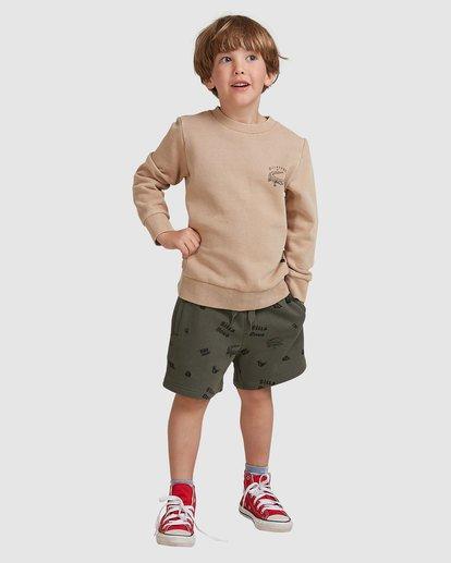 0 Groms Printed Fleece Shorts Green 7517700 Billabong