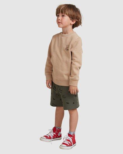 1 Groms Printed Fleece Shorts Green 7517700 Billabong