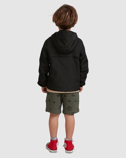 2 Groms Transport Windbreaker Jacket Black 7517901 Billabong