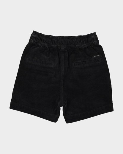 3 BOYS LARRY CORD ELASTIC WALKSHORT Black 7581732 Billabong