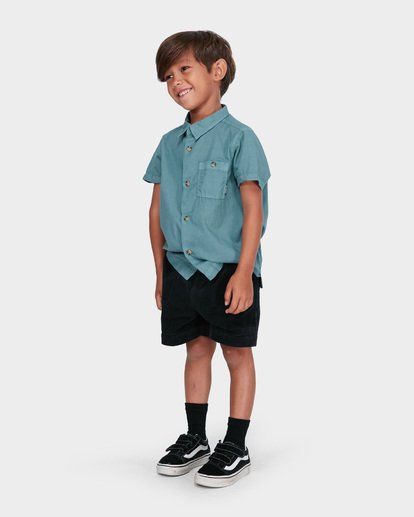 1 BOYS LARRY CORD ELASTIC WALKSHORT Black 7581732 Billabong