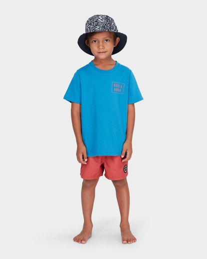 0 BOYS WARP CUT TEE Blue 7582035 Billabong