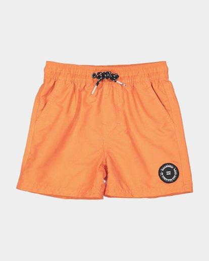 3 GROMS ALL DAY LAYBACK BOARDSHORTS Orange 7582402 Billabong