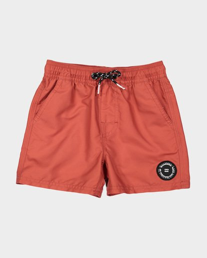 3 Groms All Day Layback Boardshorts Red 7582402 Billabong