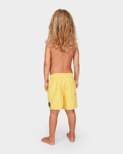 2 Groms All Day Layback Boardshorts Orange 7582402 Billabong
