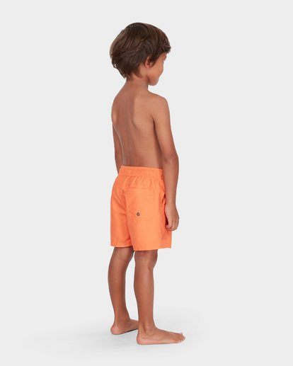 2 GROMS ALL DAY LAYBACK BOARDSHORTS Orange 7582402 Billabong