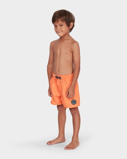 1 GROMS ALL DAY LAYBACK BOARDSHORTS Orange 7582402 Billabong